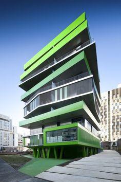 Villiot-Rapée Apartments #arquitetura #architecture #design #building #construção #casa #house