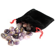Indian Runes in Pouch - Amethyst