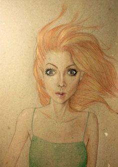 illustration, colored pencils