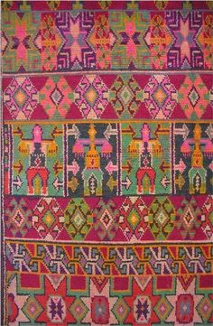 detail. Algerian Berber Rug    Wool with camel-hair border    101 x 59 inches (detail only shown)    Nemamcha Berber people    Batna region, Algeria (northeast Algeria)    c. 1920    Provenance:    -- collected in Algeria by Jack Daulton    -- ex. coll. Hotel St. George (now operating as Hotel El Djazaïr), Algiers; said to have been deaccessioned after independence (1962)
