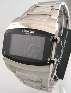 A timer watch that s not hideous and covered with buttons  Kenneth Cole  Men s Digital watch with timer  60 8db036ce5867f