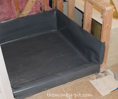 Master Bathroom Days 5-7: Shower Pan Preslope and Liner - The Kim Six Fix