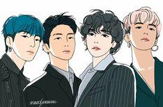 Kpop Fanart, Jungkook Fanart, Winner Kpop, Kpop Drawings, Art Google, Chibi, Pop Art, Illustration Art, Character Design