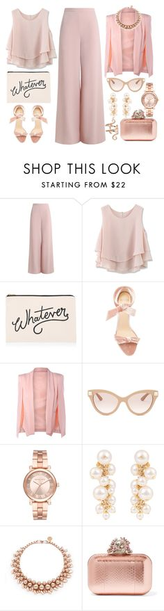 """""""Pale Dogwood"""" by iuliastyles ❤ liked on Polyvore featuring Zimmermann, Chicwish, ALPHABET BAGS, Alexandre Birman, Valentino, Michael Kors, Lanvin, Ellen Conde, Jimmy Choo and Elise Dray"""