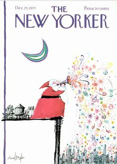The New Yorker, December 25, 1971  Illustration: Ronald Searle