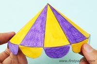 Step 4c Paper Circus Tent craft