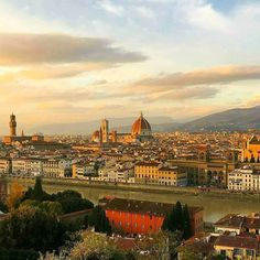 Sunset at Florence!! #Travel #florence #italy