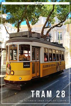 The Ultimate Tram Tour of Lisbon In this article you will discover the best things to see and do on the famous Tram 28 route in Lisbon. Tips for safe riding, as well as your alternatives. Portugal Travel, Lisbon Portugal, Romantic Vacations, Romantic Travel, Lisbon Tram, Sardinia Italy, Old World Charm, Italy Vacation, French Polynesia
