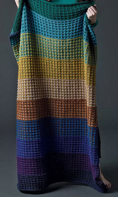 Free Knitting Pattern for Easy Colorwork Afghan