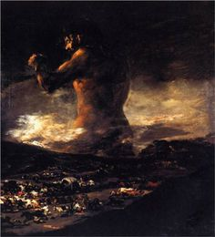 The Colossus - Francisco Goya. i don't usually especially like Goya, but this is brilliant.