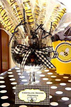 Bee Day Ideas - cute! Maybe from the Hot Chocolatier!?