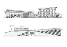 Centro Cultural e Esportivo ZHOUSHI,Corte