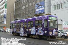 雪ミク市電! この冬も、2015年仕様になって札幌の街を駆け巡ります。