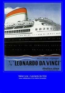 Italian Line - T/v Leonardo da Vinci