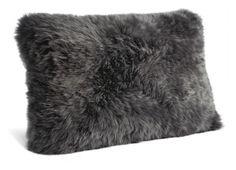 Sheepskin Steel Grey Pillow