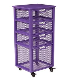 Another great find on #zulily! Purple Four-Drawer Rolling Metal Cart #zulilyfinds