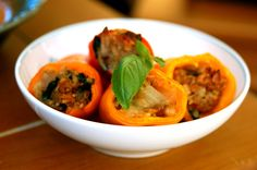 Stuffed Mini Sweet Peppers by kristinandparisa #Mini #Stuffed_Peppers #kristinandparisa