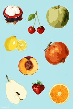 Vector Can, Vector Free, Coffee Wallpaper Iphone, Apple Stickers, Tropical Fruits, Aesthetic Themes, Free Illustrations, Sticker Design, Design Elements