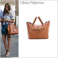 f744cd8f38308 WHAT SHE WORE  Olivia Palermo in Paris with tan ONE by Meli Melo Thela bag