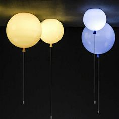 Memory Balloon Lights Are Balloons Shaped Lamps That Light Up Your Room Balloon Ceiling, Balloon Lights, Ceiling Lamp, Balloons, Glass Ceiling, Moon Balloon, Lampe Ballon, Diy Lampe, Mad About The House