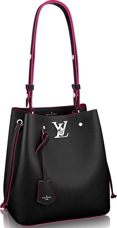 Louis Vuitton Lockme Bucket Bag Is Lockme here to stay? We do think so because Louis Vuitton has just expanded the collection with the newest bucket bag. Just to summarize with what we mean by 'Collection', the Lockme now consist… Popular Handbags, Cheap Handbags, Purses And Handbags, Leather Handbags, Handbags Online, Ladies Handbags, Small Handbags, Fabric Handbags, Leather Bags