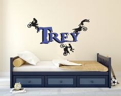 Dirt Bike Wall Decal Dirtbike-Motocross Wall Decal-Motocross Decor-Dirt Bike Decor-Baby Motocross-WD0002 by SignJunkies on Etsy