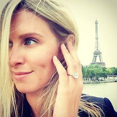 The Most Unbelievable Engagement Rings of 2014 | NICKY HILTON & JAMES ROTHSCHILD | When an heir loves an heiress very, very much, he gives her a ginormous princess-cut diamond flanked by two baguettes and flies her to Paris to celebrate. And we all get to wonder what sister Paris will wear for a bridesmaid dress.