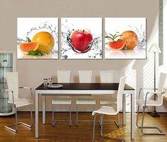 cuadros para cocina comedor moderno | decoraciones | Kitchen wall ...