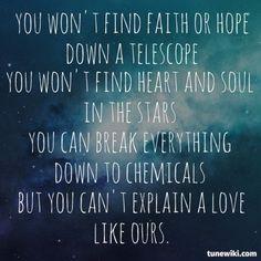 """-- #LyricArt for """"Science & Faith"""" by The Script"""