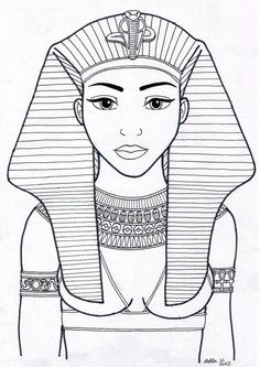 Egyptian Art Coloring Pages | CLEOPATRA QUEEN OF EGYPT for ...
