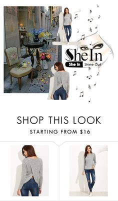 """""""Shein ~ Shine Out"""" by plumsandhoneyvintage ❤ liked on Polyvore"""