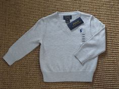 POLO  RALPH  LAUREN  BABY BOY   24  MONTHS   SWEATER V - NECK  NEW   NWT #PoloRalphLauren #Pullover