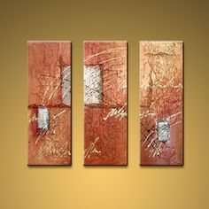 Hand-painted Beautiful Modern Abstract Painting Wall Art Interior Design. In Stock $125 from OilPaintingShops.com @Bo Yi Gallery/ ops9032