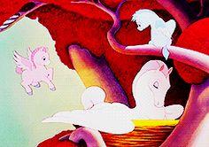 "Pegasus family.  Walt Disney's ""Fantasia"" (1940)"