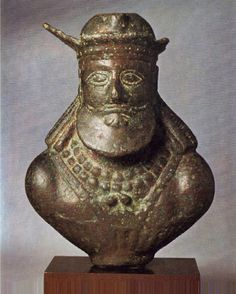 Bust of bronze 4th AD Sassanian,from Iran.