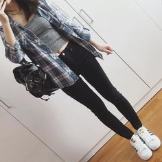 Casual fall outfits - 20 Spring Outfits For School, Teens Will Love 2019 – Casual fall outfits Grunge Outfits, Casual Fall Outfits, Mode Outfits, Grunge Fashion, Fashion Outfits, Cute Edgy Outfits, Cute Everyday Outfits, Easy Outfits, Blazer Outfits