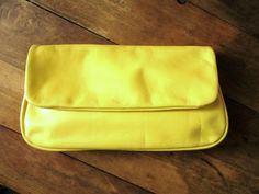 Hey, I found this really awesome Etsy listing at https://www.etsy.com/listing/77932074/vintage-60s-clutch-bag-lemon-yellow
