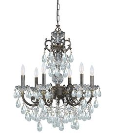 Look at this #zulilyfind! English Bronze Legacy Six-Light Chandelier by Crystorama #zulilyfinds