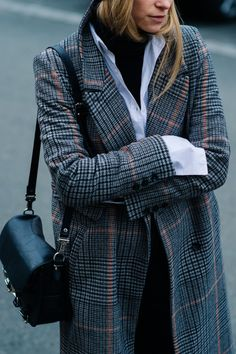 Loving the check coat. Perfect for winter time!