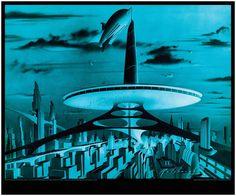 Mid Century Futurist Arthur Radebaugh - Space Age Zeppelin Mooring Mast