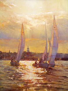 Hiu Lai Chong, Annapolis Racing, oil, 40 x 30 - Artistic Excellence 2014 | First Place