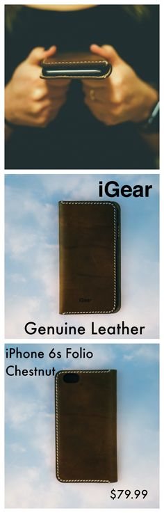 Each and every iPhone deserves an iGear folio case of this quality. The Chestnut Folio Case with Vanilla Stitching is hand crafted to age and gain character over time. Not fall apart. We believe in Real Leather for Real Life. $79.99