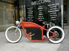 Orange with disc brakes - custom bicycle