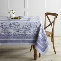 Blue Willow Jacquard Tablecloth #williamssonoma