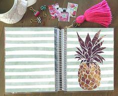 Summer Pineapple Planner Cover: Erin Condren by StylishPlanner