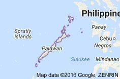 Karte von Palawan