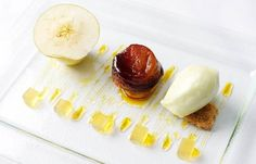 William Drabble's assiette of apple recipe is simply sublime. The award-winning chef creates a wondrous dish which uses the apple to make a jelly, sorbet, tarte tatin and mousse