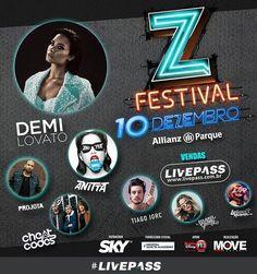 Muita gente pediu e vai rolar, Demi Lovato será atração principal do #ZFestival! E não é só isso, #CheatCodes, que está #bombando com o #hit #Sex, também entra para o #LineUp do festival. Anotem aí na #agenda de vocês: dia 18 e #Outubro começam as #vendas. Curtiu a #novidade? Conta pra gente!  #Livepass #MoveConcertsBrasil #ZFestival #DemiLovato #CheatCodes #Anitta #Projota #TiagoIorc #ManuGavassi #LarissaManoela