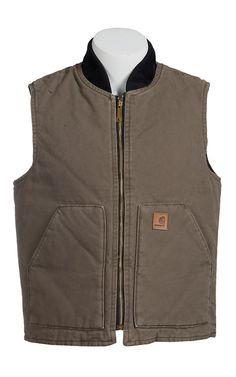 Carhartt Men's Brown Sandstone Mock Collar Vest