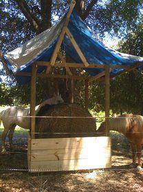 round bale feeder box with TX Hay Net